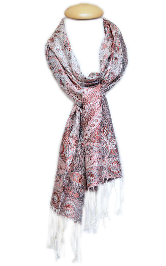 Summer Floral Paisley Silk Jacquard Scarf