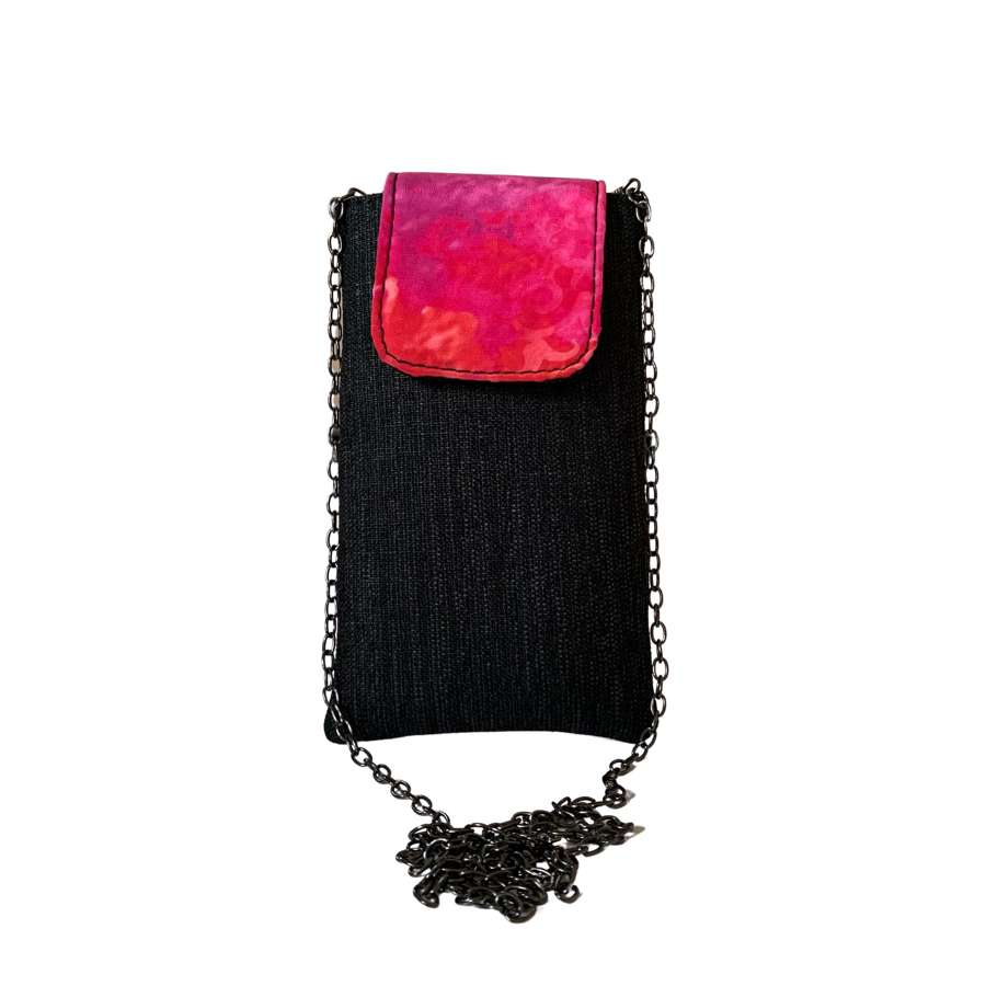 Ruby pouch on chain - Black