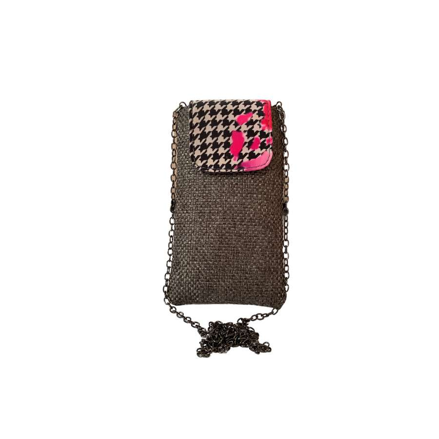 Ruby pouch on chain - Grey