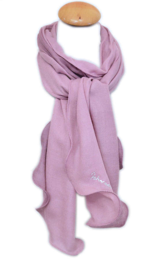 Pink Ombre Wool/Silk Skinny Scarf