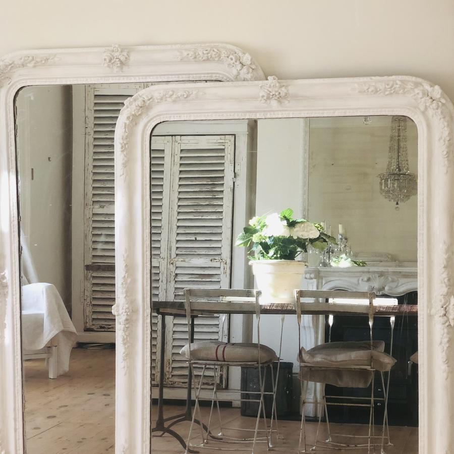 Pair of 19th century French painted mirrors
