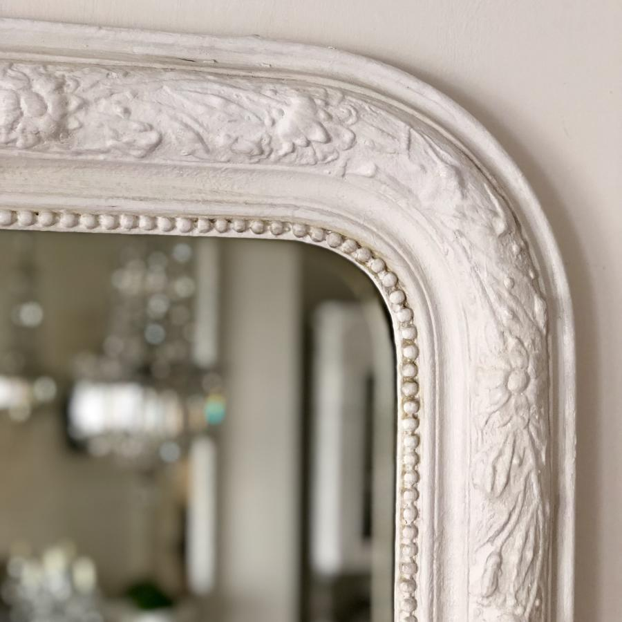19th century French painted Louis Philippe overmantel mirror
