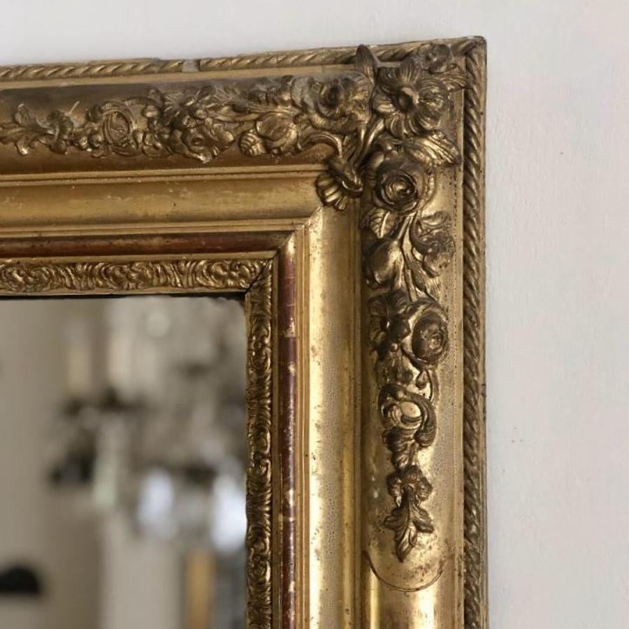 French antique 19th century gilt mirror