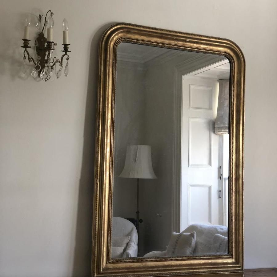 Large 19th century French gilt Louis Philippe mirror