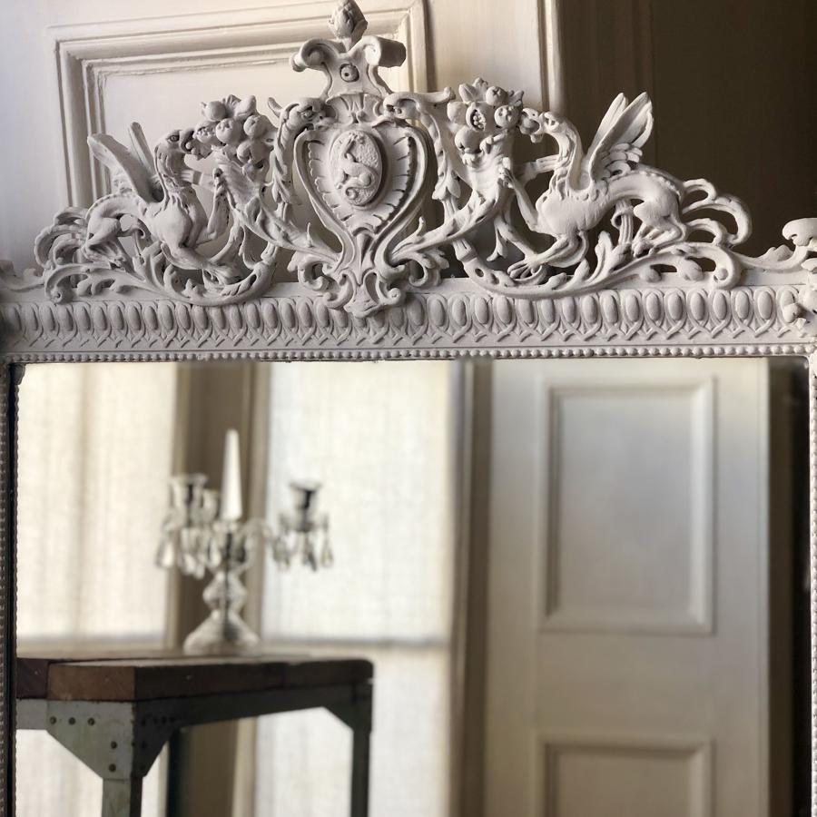 19th century French antique painted mirror
