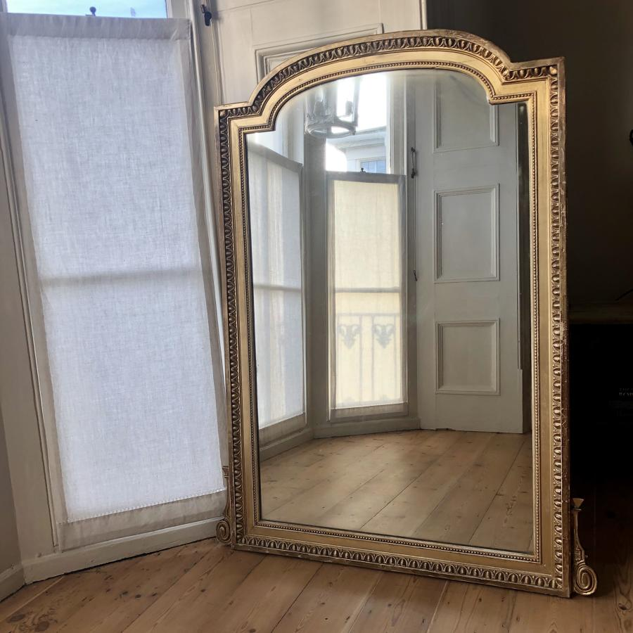 Large 19th century French gilt mirror