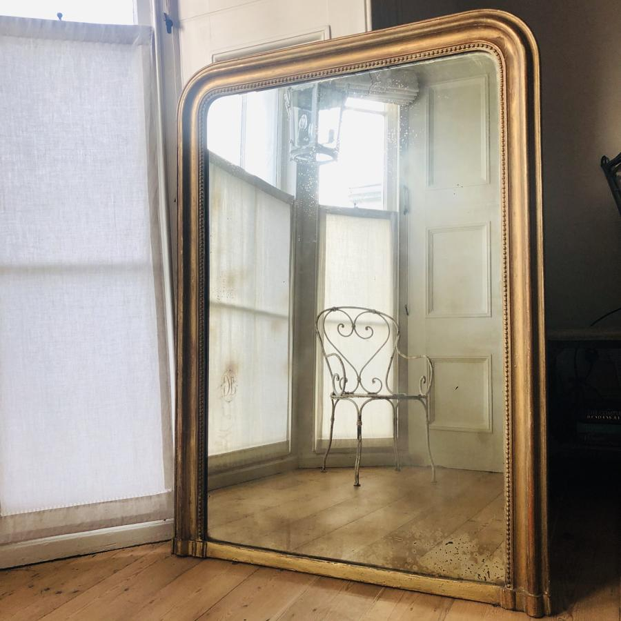 French antique Louis Philippe gilt mirror