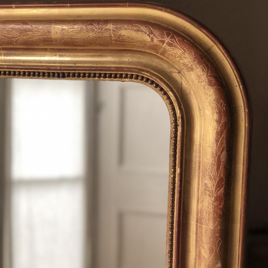 Large antique 19th century French Louis Philippe Mirror