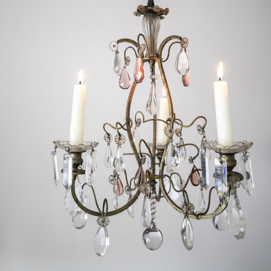 19th century French antique cage chandelier