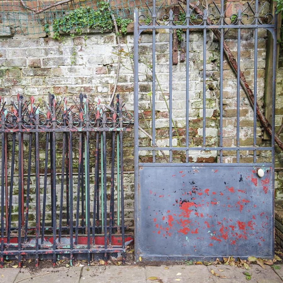 Antique French iron gate and railings