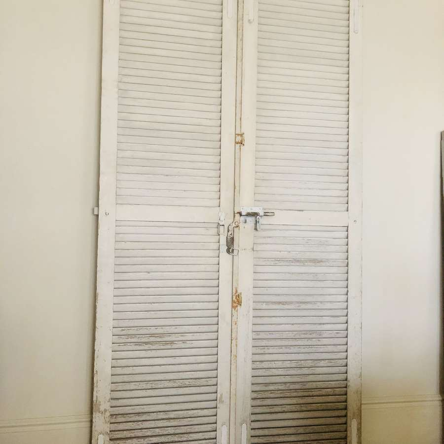 Tall French antique wooden shutters / doors