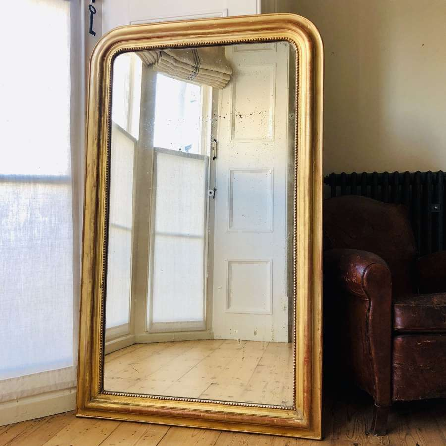 Large antique gilt Louis Philippe mirror c1860