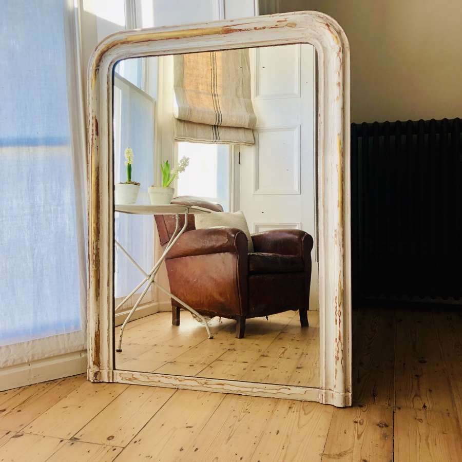 Antique French 19th century gesso gilt Louis Philippe mirror