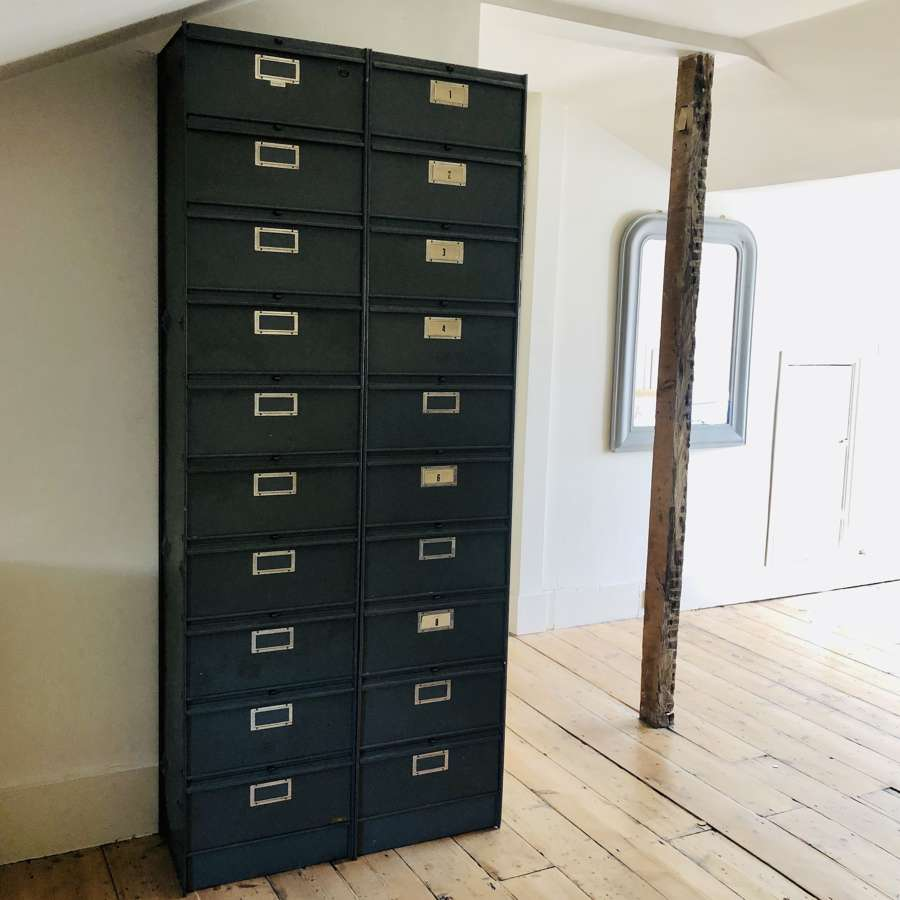1950s vintage French metal filing cabinets - RONEO