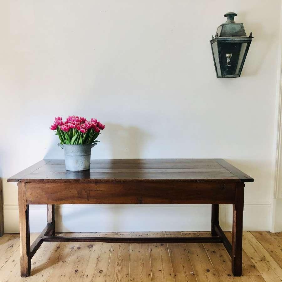 19th century antique French oak farmhouse table