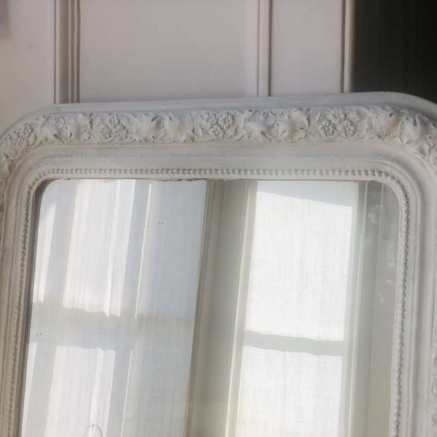 Antique French Louis Philippe painted mirror c1860