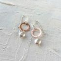 Circle earrings with nugget - picture 1