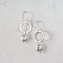 Circle earrings with nugget - picture 2