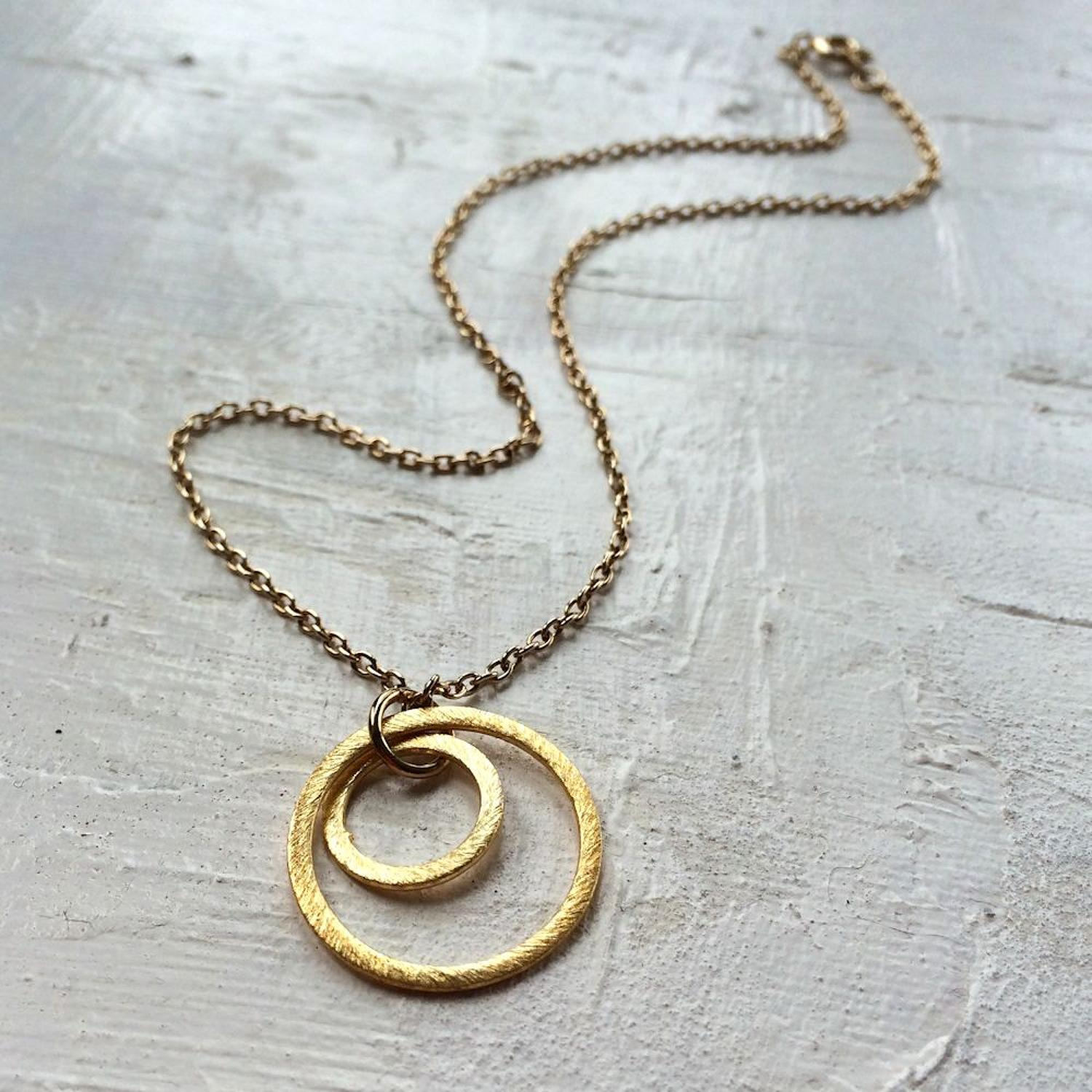 Solar rings necklace