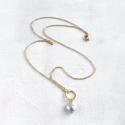 Lydia necklace - grey coin pearl - picture 1