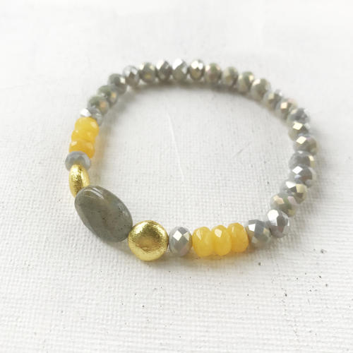 Annie bracelet yellow/grey