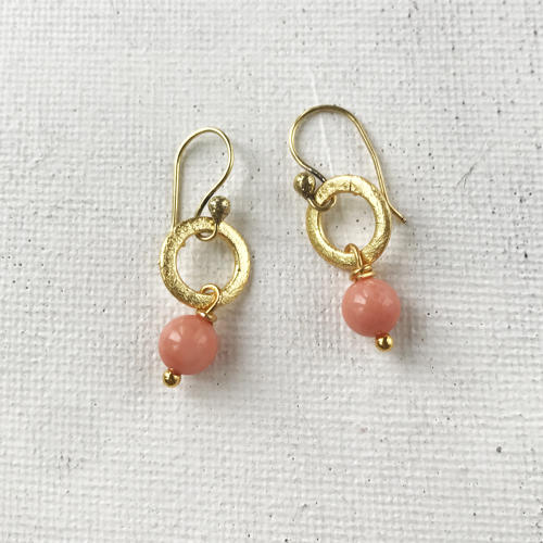 Lydia tiny earrings coral