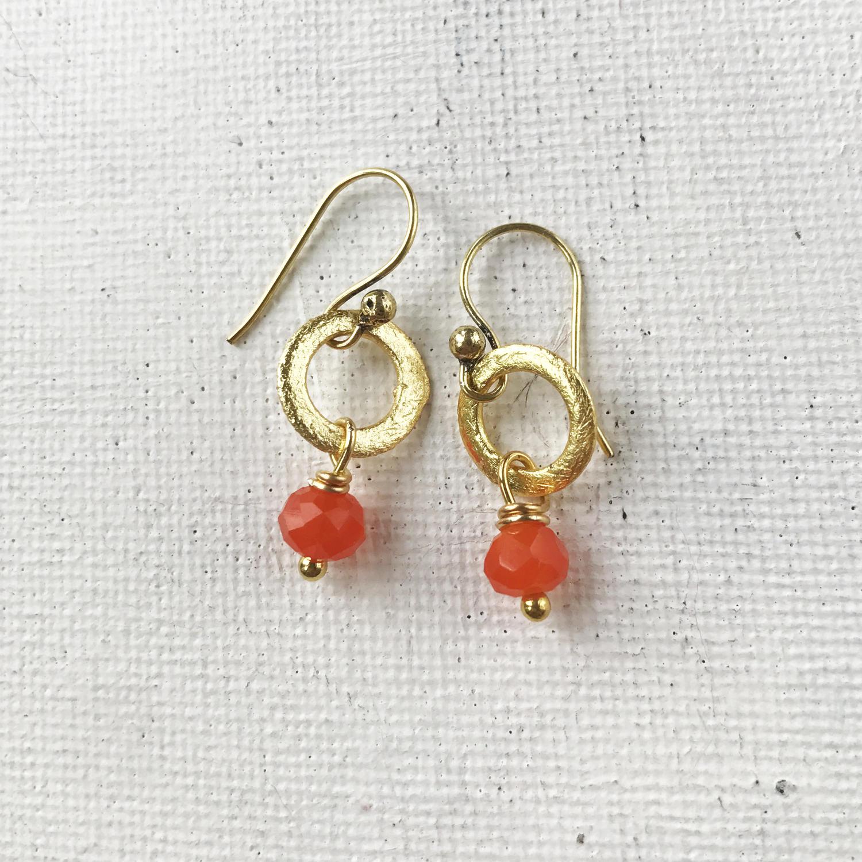 Lydia tiny earrings orange