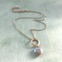 Lydia necklace - pink coin pearl - picture 1