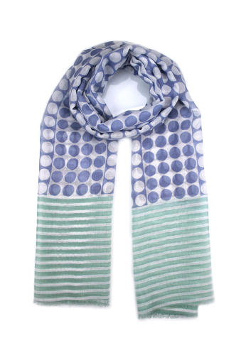 Lucy scarf blue green