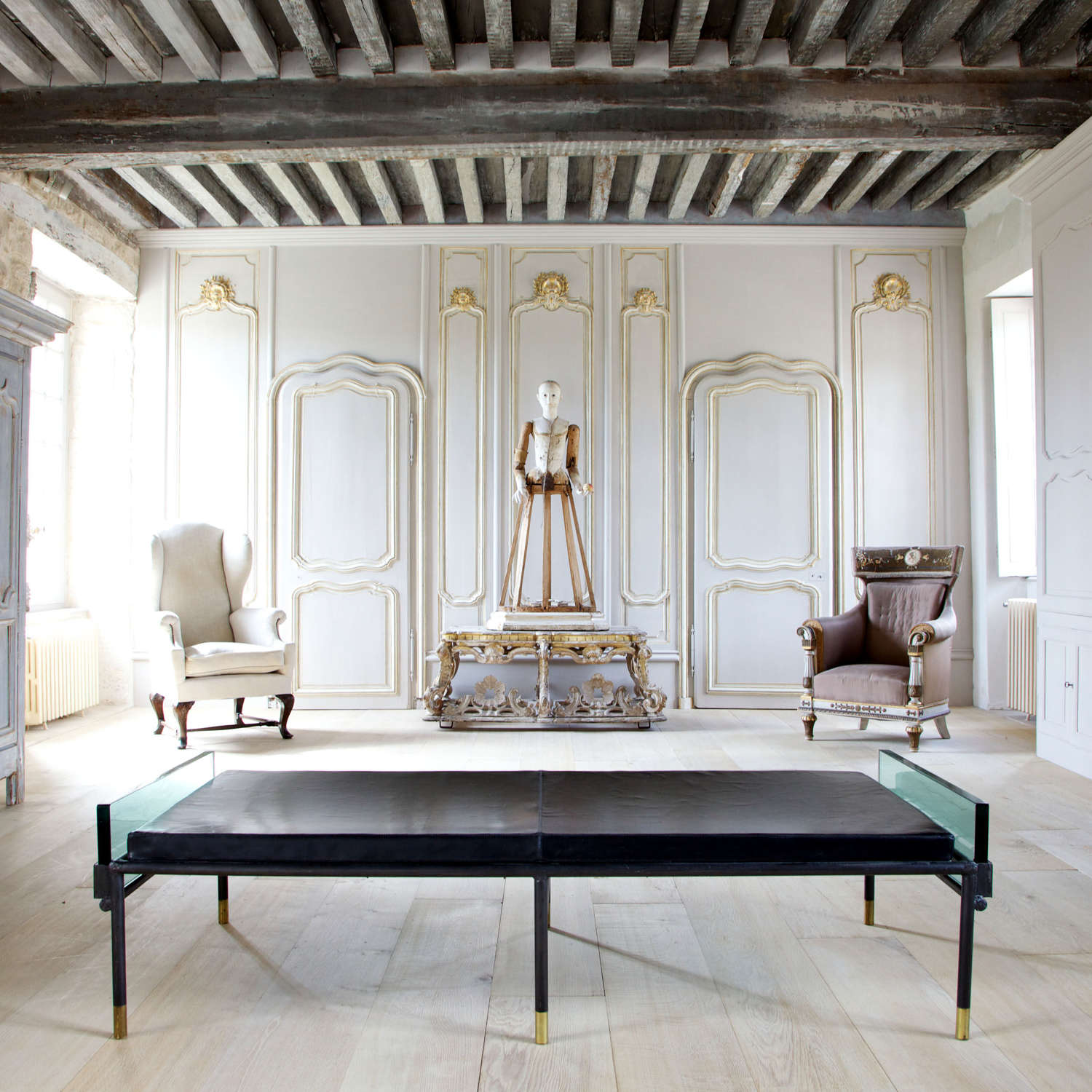 Early 19th Century Jacques Adnet Prototype Daybed