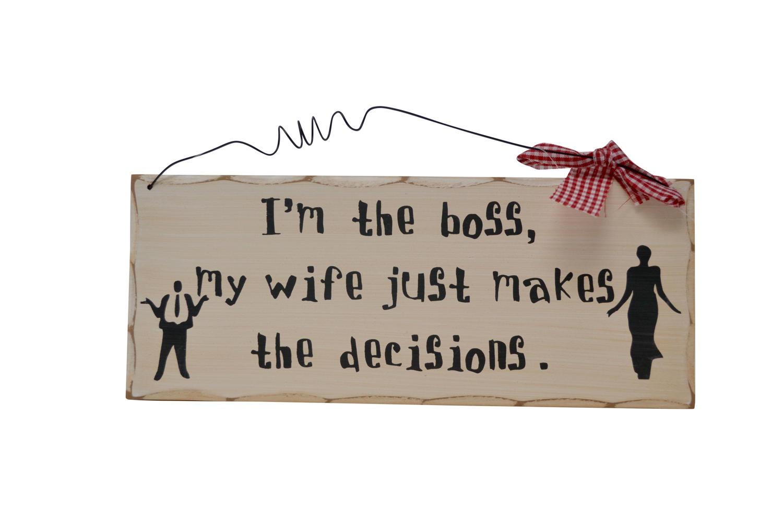 'I'm the boss' Ribbon Plaque