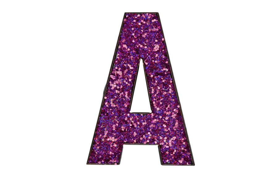 Glitter Letters A-Z - PINK