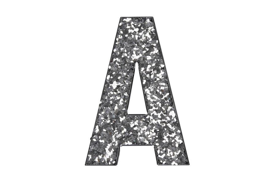 Glitter Letters A-Z - SILVER