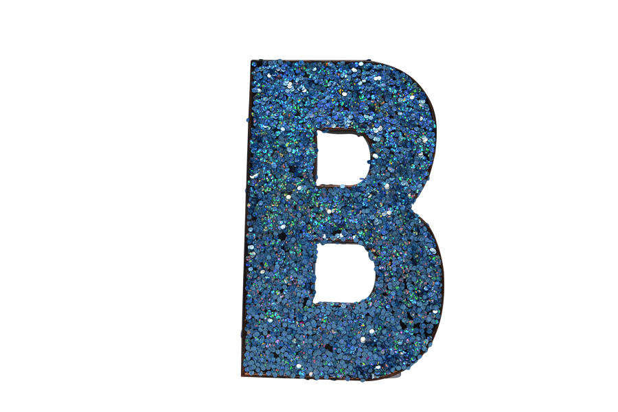 Glitter Letters A-Z - BLUE