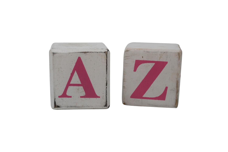 White Block Pink Letter