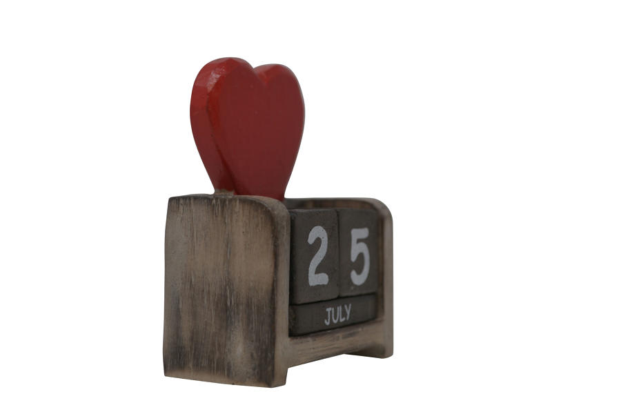 Mini Heart Calendar