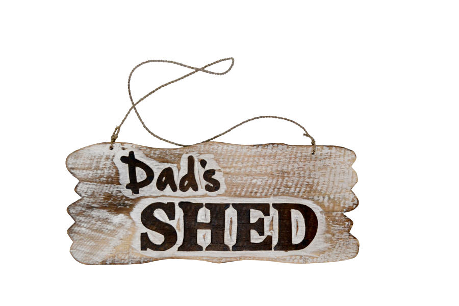 Dad's Shed Wood Plaque