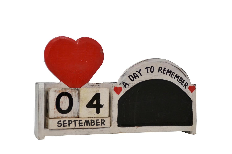 Heart Chalk Calendar Pot