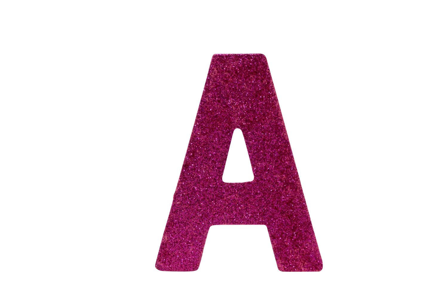 10cm Silver/Pink Glitter Letters