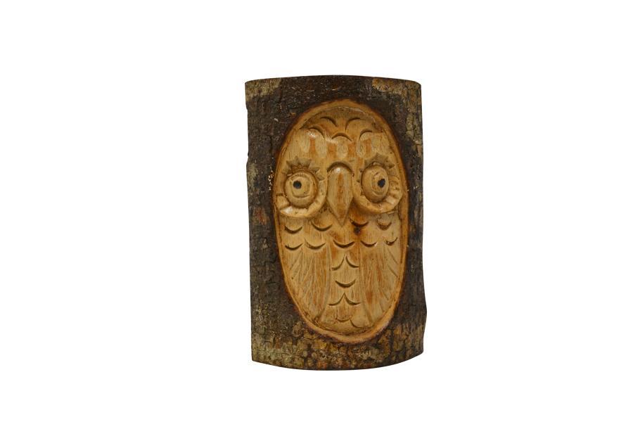 Half Log Owl - Small