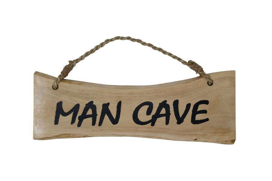 'Man Cave' Coffee Wood Plaque
