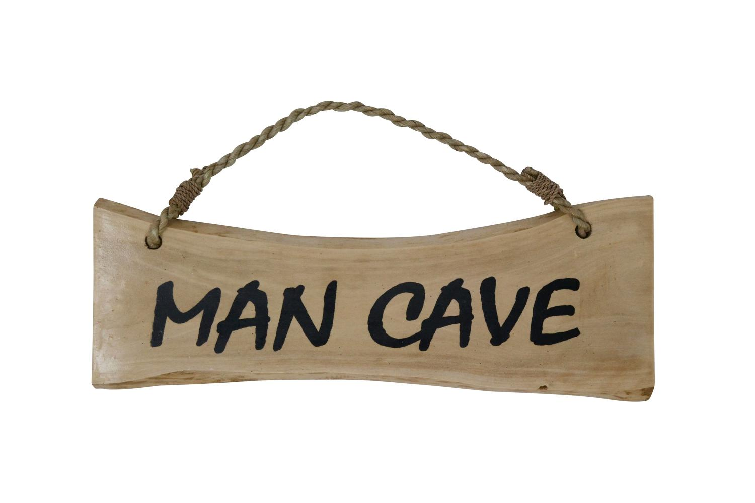 'Man Cave' Coffee Wood Plaque