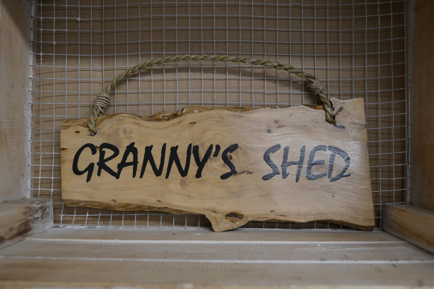 Granny's Shed Coffee Wood Plaque