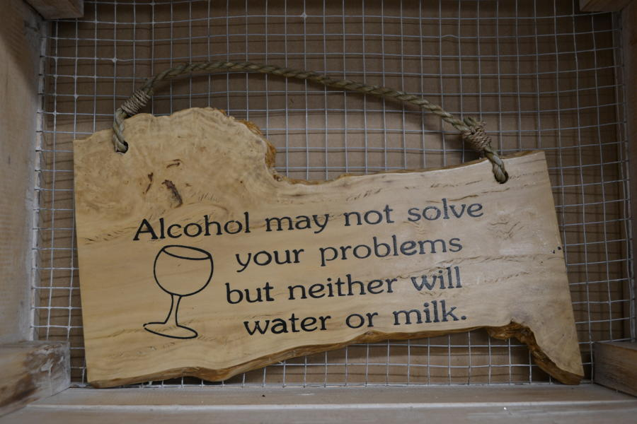 Alcohol may not solve.. Coffee Wood Plaque