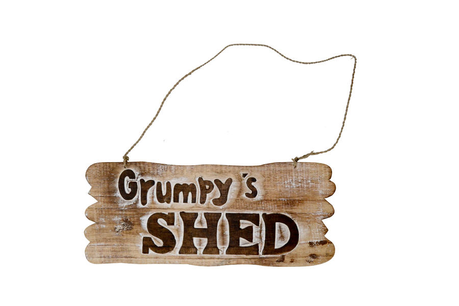 Grumpy's Shed Plaque