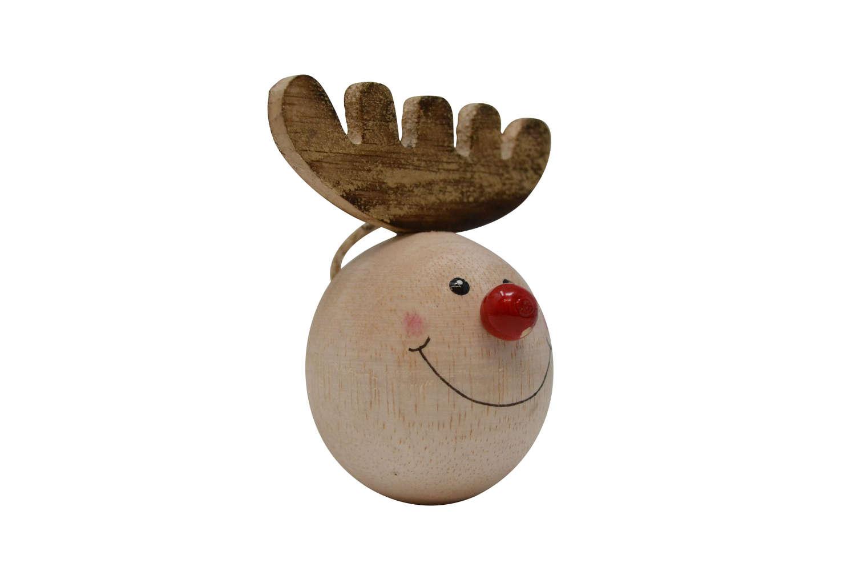Round Reindeer Head Hanging Decoration