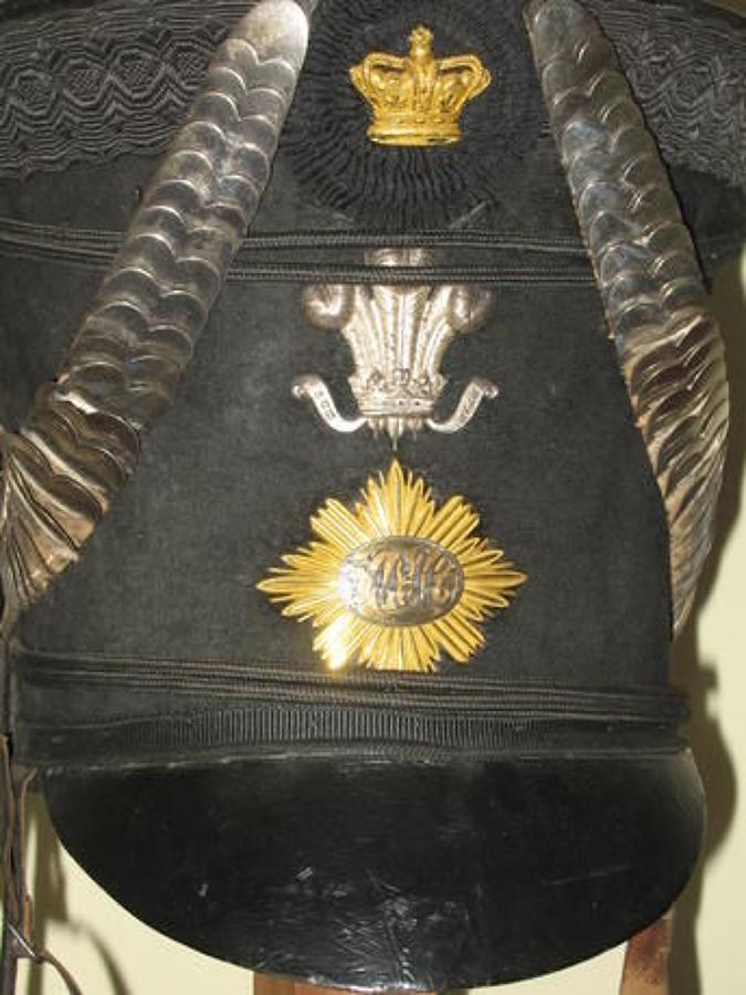 Maylor Cavalry Officers Regency Period Belltop Shako.