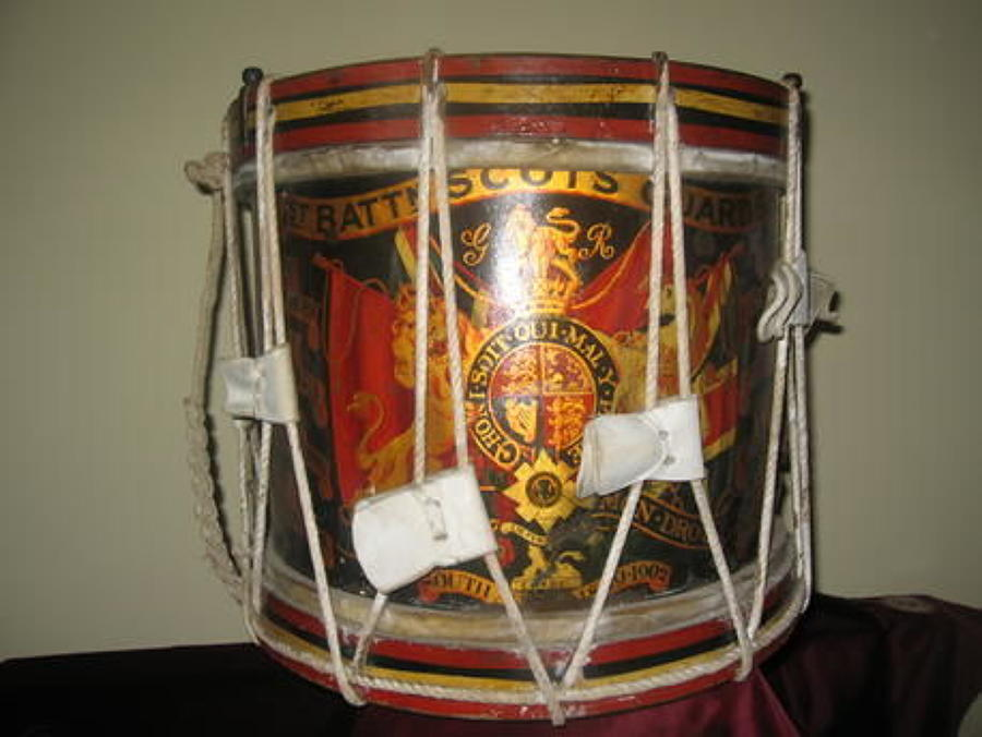 1st Batt Scots Guards Drum, Battle Honours upto South Africa 1899-1902