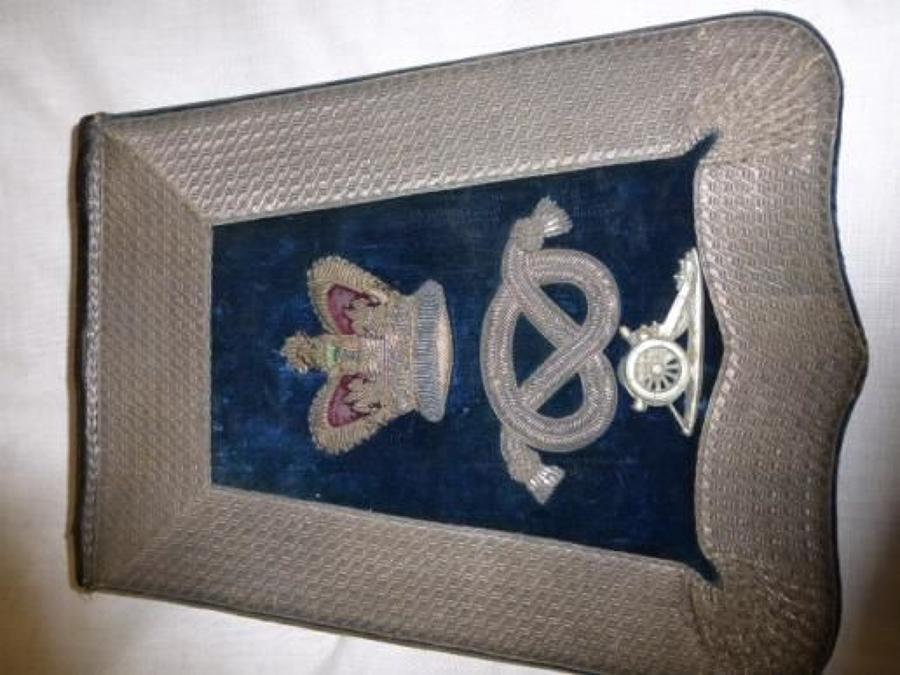 1st Stafford Artillery Volunteers Officers full Dress Sabretache, QVC.