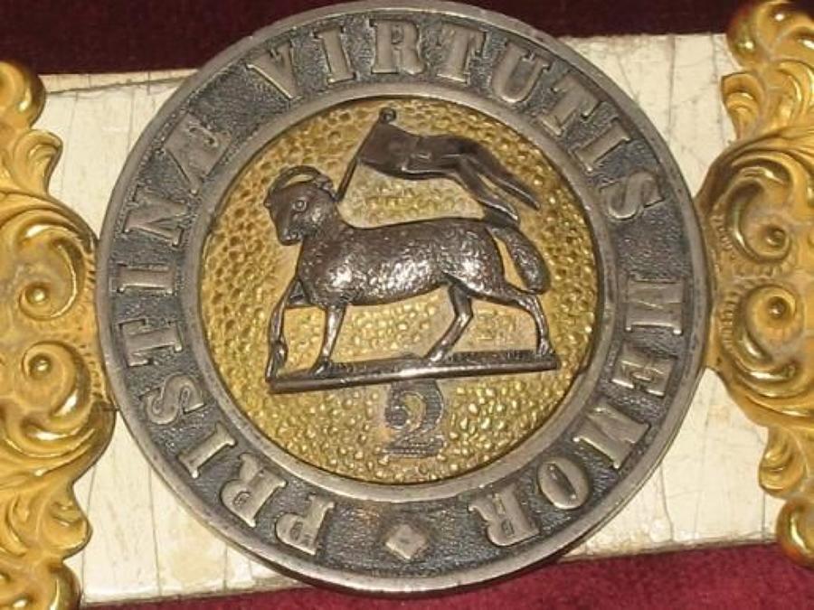 2nd Of Foot, Officers White Enamelled Sword Belt, (Royal West Surrey Regiment)
